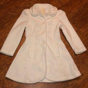 Girls size 7/8 Copper Key white pea coat
